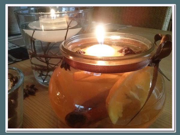 Kerze mit natürlichem Duft