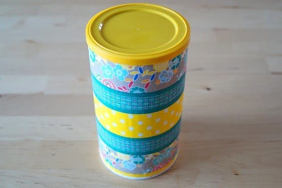 Upcycling Chipsdose mit Washi Tape