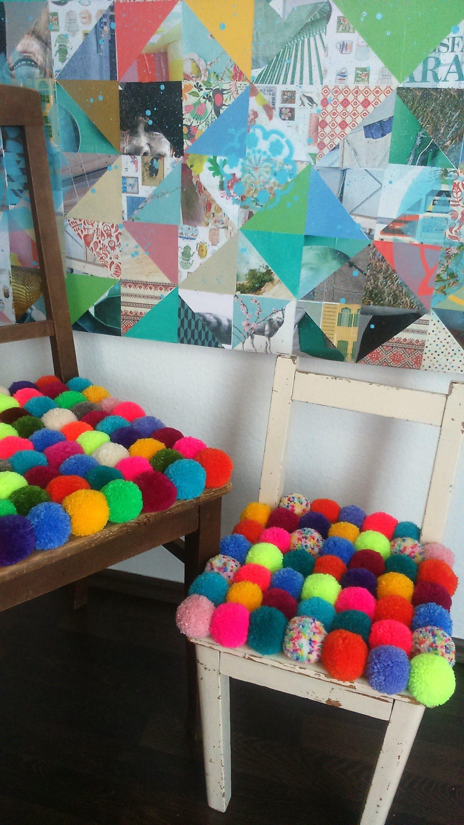 Pomponstuhl Handmade Kultur
