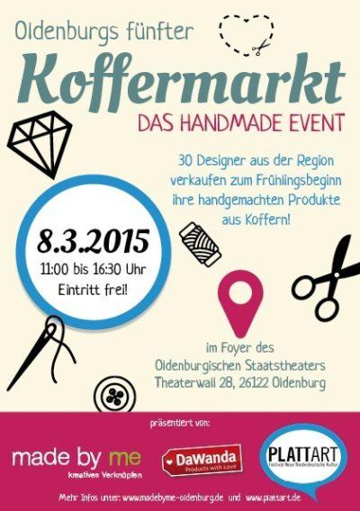 Koffermarkt in Oldenburg - Termine bei HANDMADE Kultur