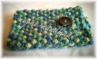 Handytasche mit bobble stitch / Noppen