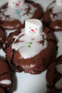Schneeemann-Cookies