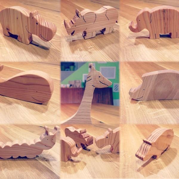 Tolle Holztiere aus Reststücken sägen