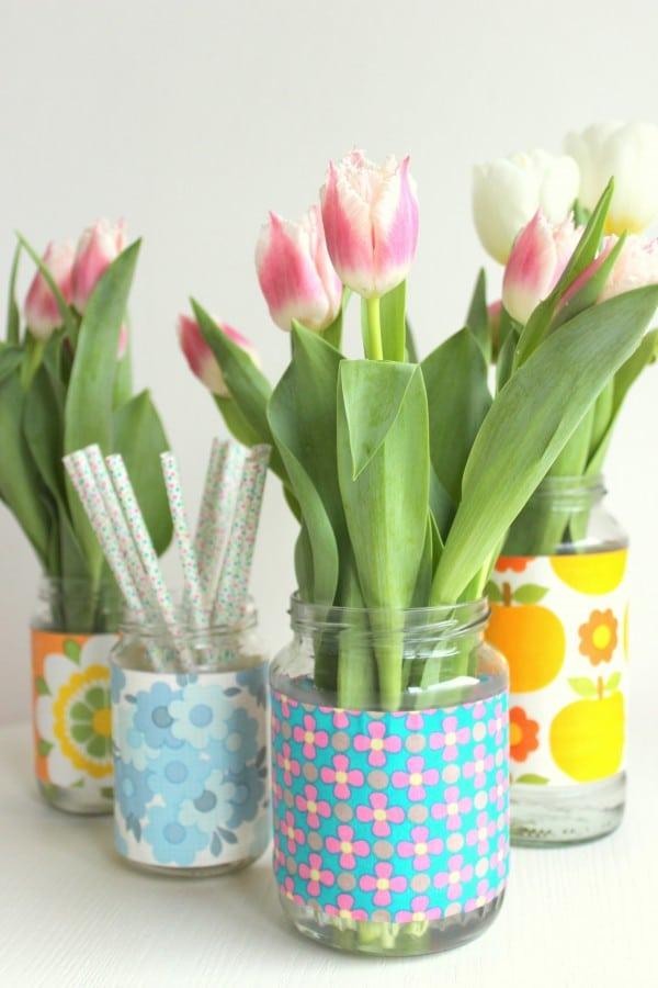 DIY - schnell und günstig neue Vasen basteln