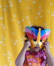 farbenfrohe Gesichts-Maskerade
