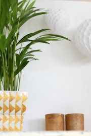 Goldene Wohnaccessoires -  graphic pattern Teil 2