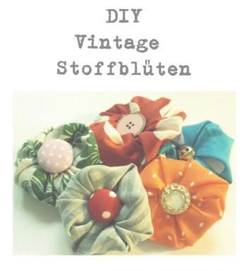DIY Vintage Stoffblüten