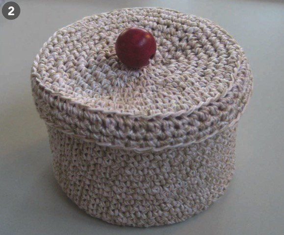 Häkeldose Mit Deckel Handmade Kultur