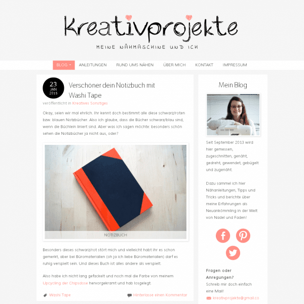 Kreativprojekte | Nähen für Anfänger – Alles rund um Stoffe, Schnittmuster, Anleitungen, Knöpfe, Bänder und vieles mehr!