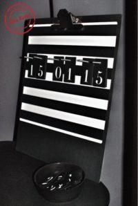 Ikea Hack Kalender in schwarz-weiß