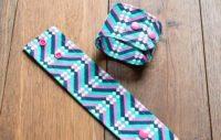 Stoffarmband mit Schmuckdrückern