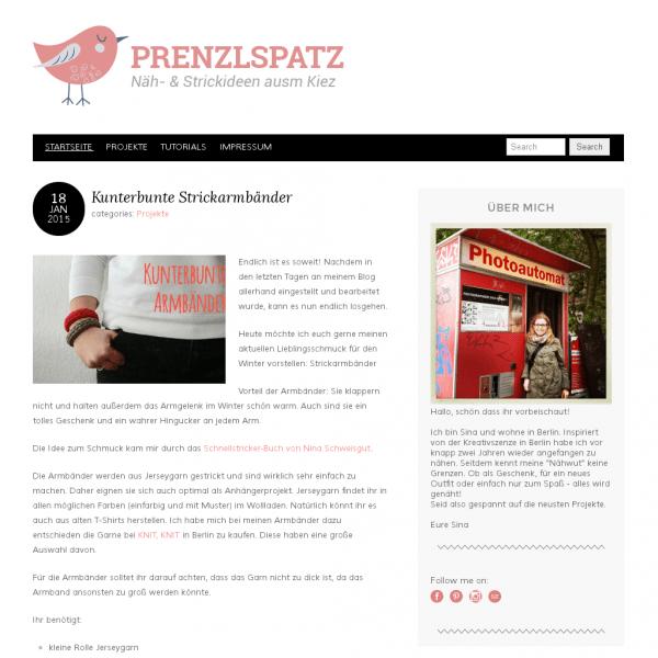 Prenzlspatz | Näh- & Strickideen ausm Kiez