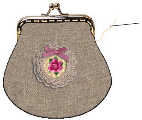 Shabby Chic Täschchen Und Brosche Handmade Kultur