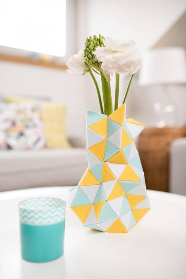 vasenh lle aus filz handmade kultur. Black Bedroom Furniture Sets. Home Design Ideas