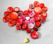 Knopfherzen zum Valentinstag