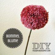 DIY: Bommelblümchen oder Pompoms am Stiel