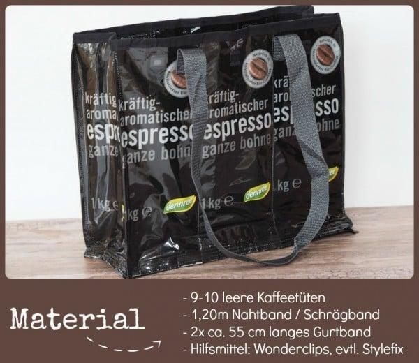 Upcycling Kaffeetüten Tasche HANDMADE Kultur