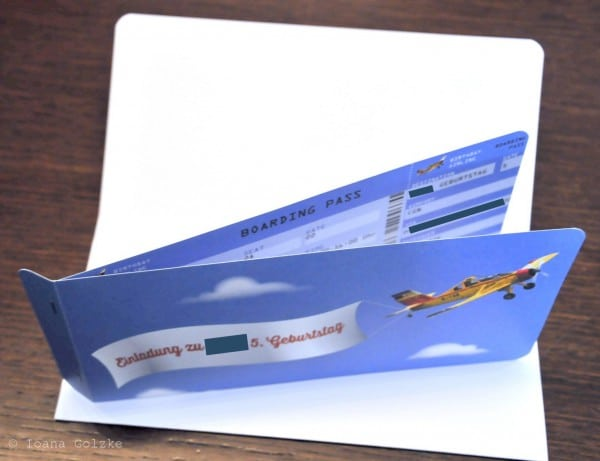 Boarding Pass Einladungskarte Freebie Handmade Kultur