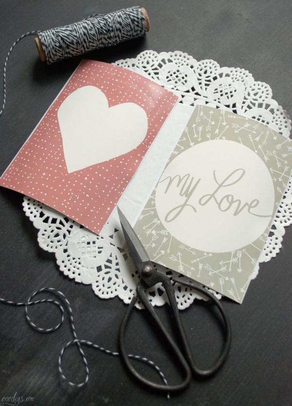 Printable für Valentinstagsgrüße