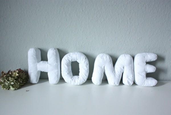 Make yourself a HOME - Buchstaben nähen