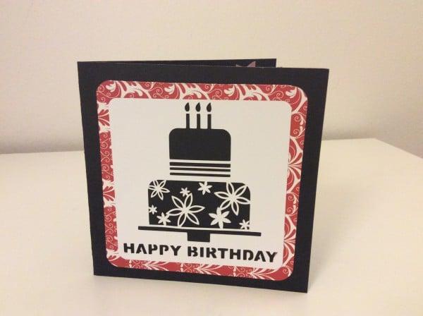 Geburtstagskarte geplottet