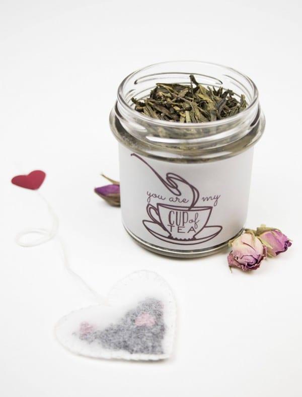 You are my cup of tea! - Geschenkidee zum Valentinstag + Freebie