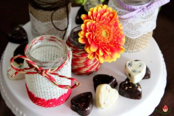 Vintage Kerzenlichter und Mini-Vase