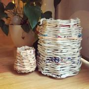DIY Papierkorb aus alten Zeitungen