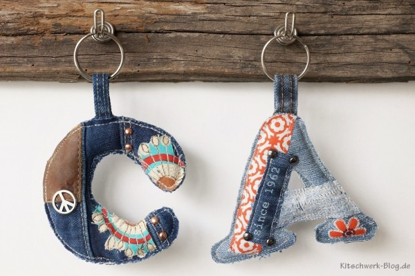 DIY: Jeansupcycling: Schlüsselanhänger