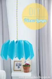 DIY Plissee Lampenschirm in 10 Schritten
