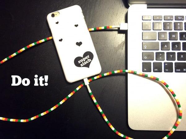 DIY Kabelschutz aus Hama Perlen