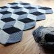 Geometrische Häkeldecke mit 3D-Effekt