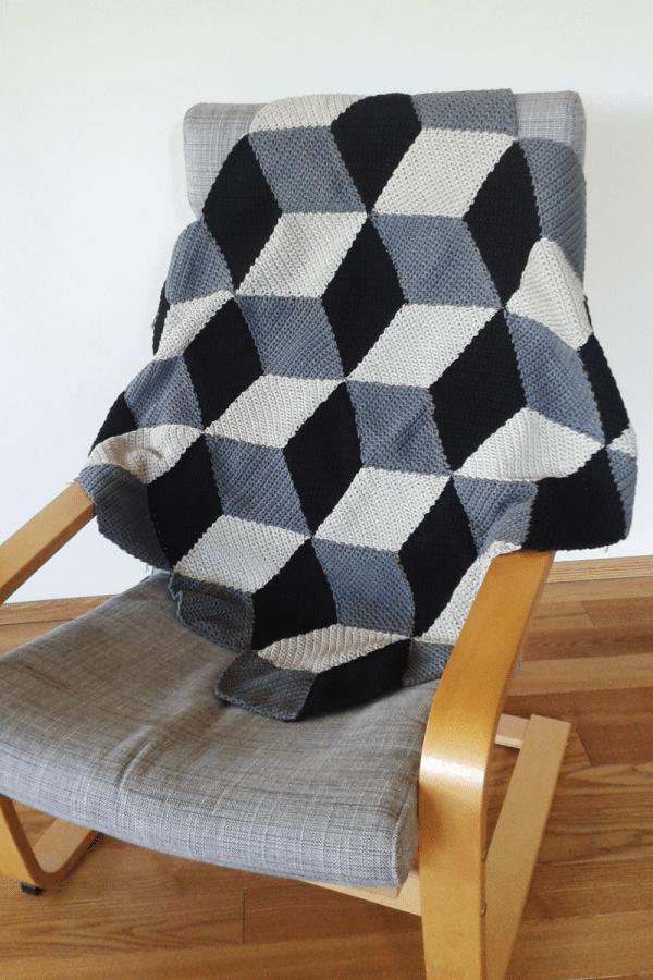 Geometrische Häkeldecke Mit 3d Effekt Handmade Kultur