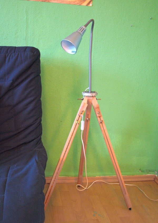 DIY upcycling Lampe