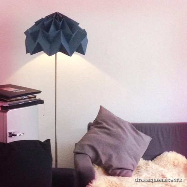 Plissee- Stehlampe