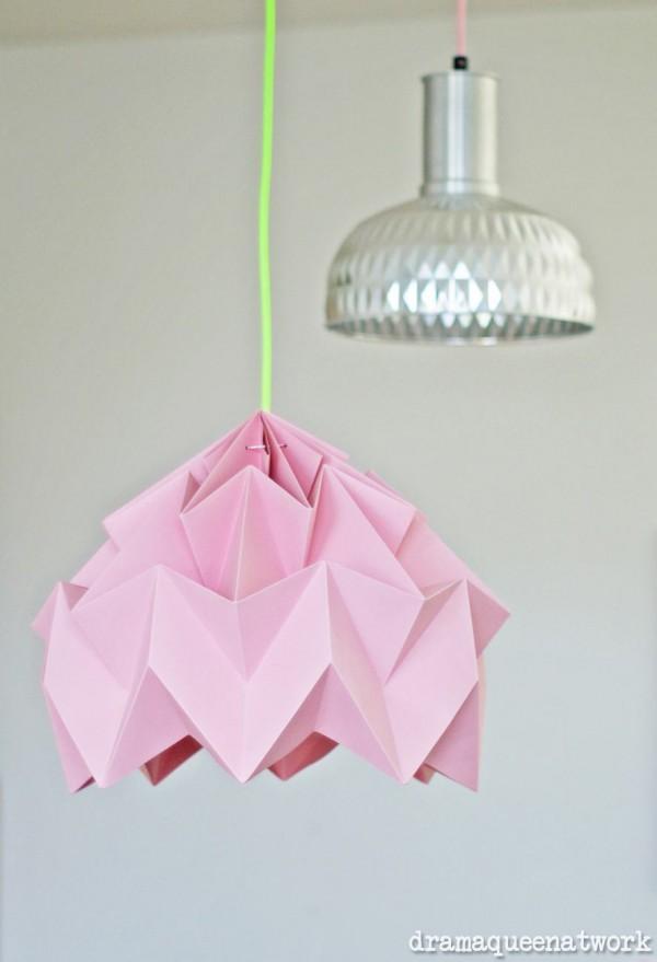 Plissee- Lampe