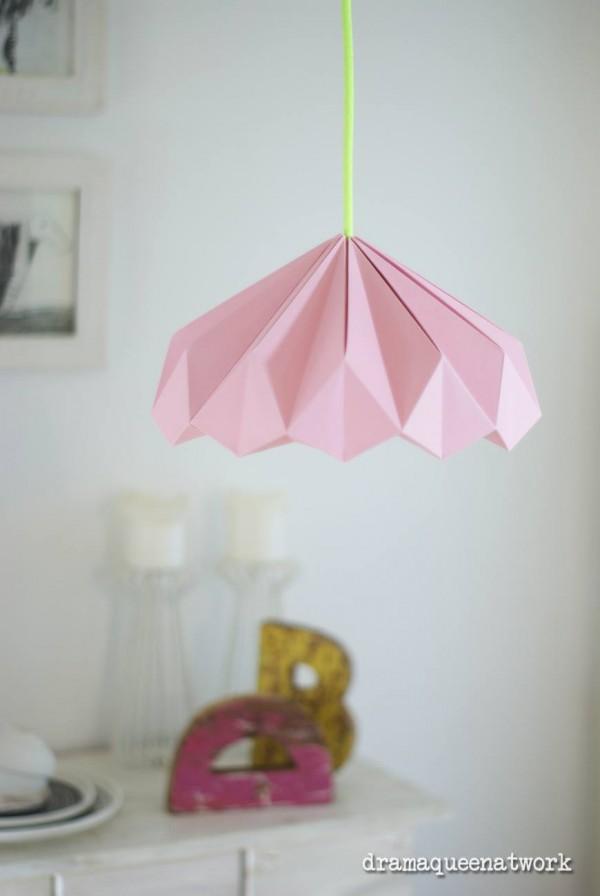 Plissee lampe handmade kultur for Raumgestaltung drama