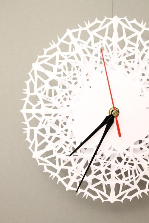 DIY - Moderne Uhr aus Papier