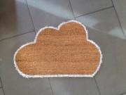 wolkige Fußmatte