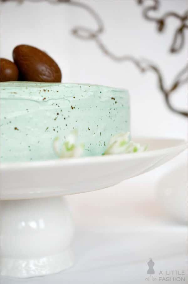 Österliche Vanillecreme-Nougat-Torte