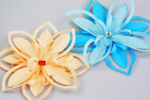 Papier Blumen Als Florale Tischdeko ✿