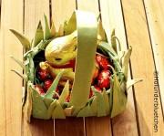 Osterkörbchen aus Eierkartons