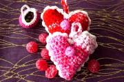Häkelanleitung : Herz mit Bordüre - Rüschenherzchen