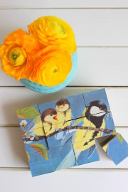 DIY: Puzzle aus Holzklötzchen