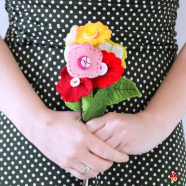 Blumenstrauß Aus Filz Handmade Kultur