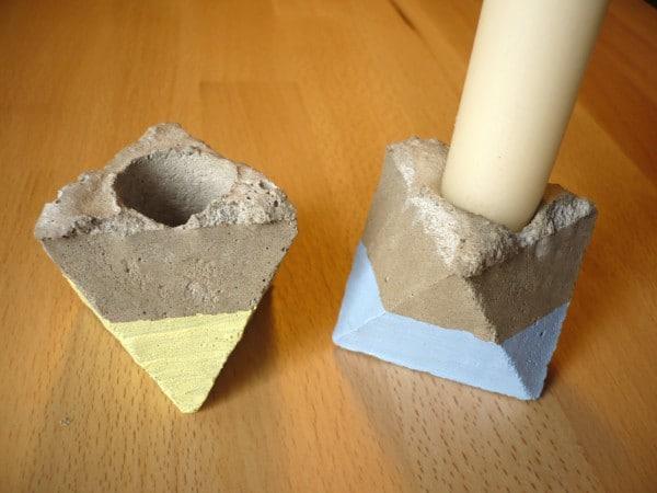 Beton-Kerzenständer