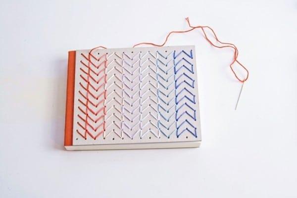Besticktes Notizbuch