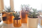 DIY Blumentopf in neuem Gewand - es wird geometrisch