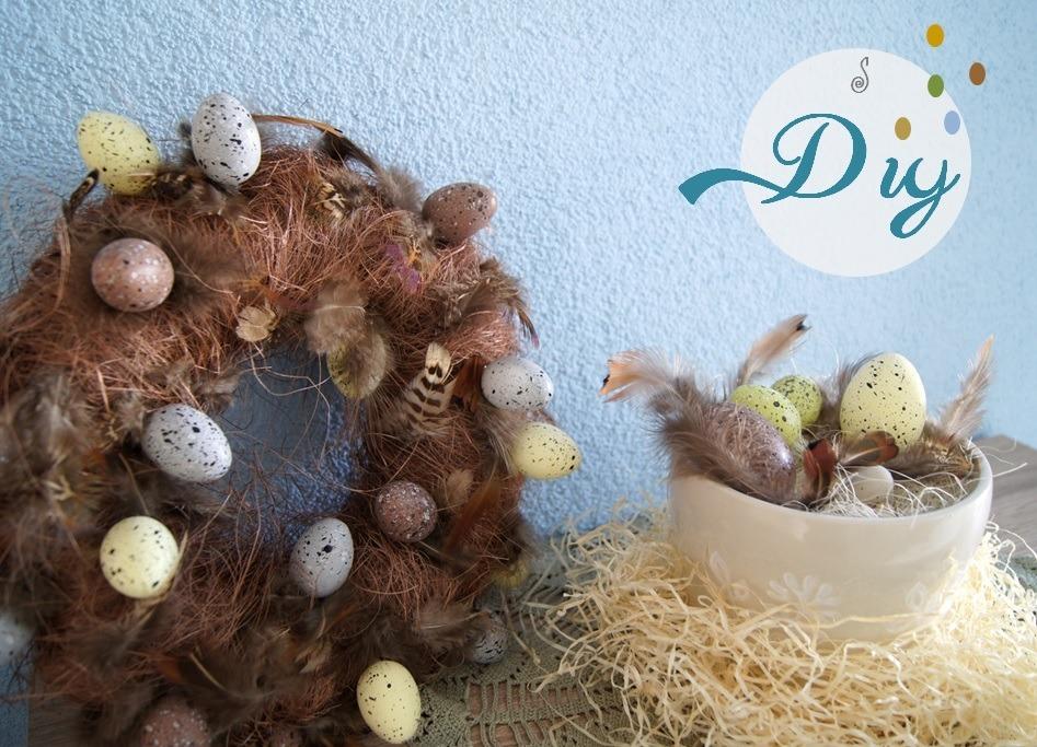 Diy deko osterkranz handmade kultur - Osterkranz deko ...