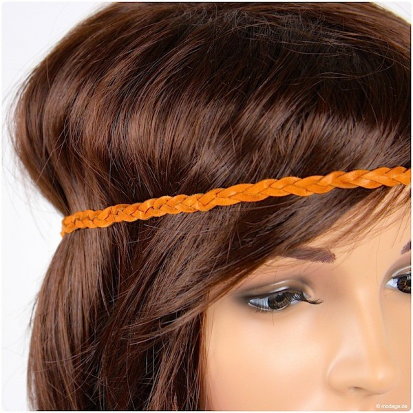 DIY Haarband aus geflochtenem Leder